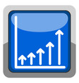 success business graph on a button vector image vector image