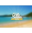 summer sea background with lettering say hello vector image
