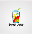 sweet juice logo icon element and template vector image vector image