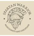 symbol spartan greek warrior vector image