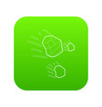 throwing stones icon green vector image