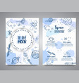 to the moon slogan space brochure hand drawn vector image