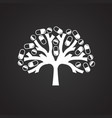 tree with pills on black background vector image vector image