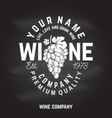 winery badge sign or label vector image vector image