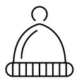 winter hat icon outline style vector image