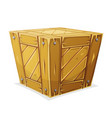 wood box vector image vector image