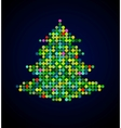 xmas background with pixel christmas tree vector image vector image