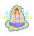 yoga practice concept vector image