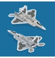 Military airplane at flying Flat 3d isometric vector image