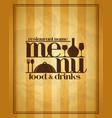 restaurant menu food and drinks vector image