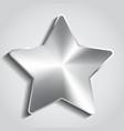 Metal star background vector image