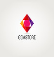 abstract geometry gem stone logo design symbol vector image
