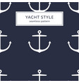anchor navy blue pattern vector image vector image