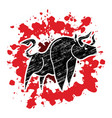angry bull graphic vector image vector image