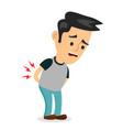 backache problems flat cartoon vector image vector image