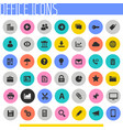 big ui ux and office icon set trendy flat icons vector image vector image