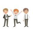 Boys In Black And White Outfits Happy Schoolkids vector image vector image