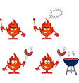 Cartoon flame and fire design vector image vector image