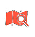 cartoon map pin icon in comic style location gps vector image vector image