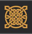 celtic knot ethnic ornament geometric design vector image vector image