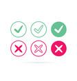 check mark logo or icon tick symbol in vector image