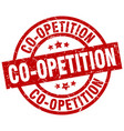 co-opetition round red grunge stamp vector image vector image