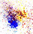 Colorful acrylic paint splatter shiny blob on whit vector image vector image