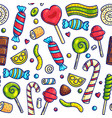 colorful candies seamless pattern vector image