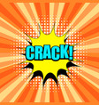comic crack wording template vector image vector image