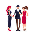 corporate party people on vector image vector image