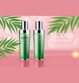 cosmetics green cream and spray moisturizer vector image vector image
