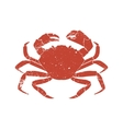 crab grunge silhouette isolated on white vector image vector image