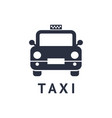 digital black travel taxi vector image vector image