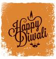 diwali vintage lettering logo background vector image vector image