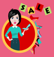 fashion girl in flat style shopping and fashion b vector image vector image