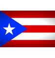 Flag of Puerto Rico vector image vector image
