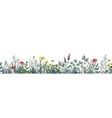 flower border floral horizontal banner with vector image