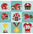 Football game icons vector image