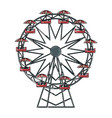 funfair with ferris wheel amusement and carnival vector image