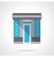 Glass store facade flat color design icon vector image vector image