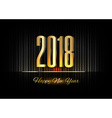 Gold New Year 2018 Luxury Symbol vector image vector image