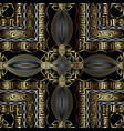 greek floral 3d gold seamless pattern vector image vector image