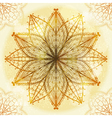 Hand drawn beige ornament vector image vector image