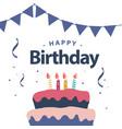 happy birthday template design vector image