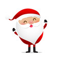 happy christmas character santa claus cartoon 014 vector image vector image