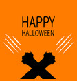 happy halloween bloody claws animal scratch vector image