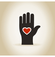 Heart in a hand4 vector image