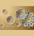 islamic art ramadan greeting card vector image vector image