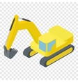 Isometric excavator ison vector image