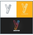 Letter Y logo alphabet design icon background vector image